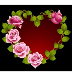 Framework from pink roses vector image