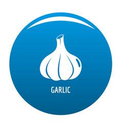 Garlic icon blue vector
