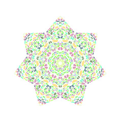 Geometrical isolated abstract colorful flower vector