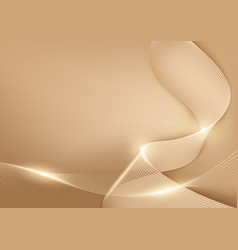 Gold pastel lines abstract background vector