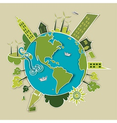 Green concept Earth vector image