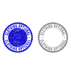Grunge clothing optional scratched stamp seals vector