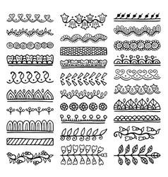 Hand drawn dividers set vector