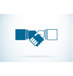 Handshake business concept vector
