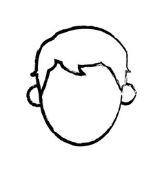 head man male person sketch vector image