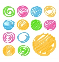 Highlighter Shaded and Spiral Design Elements vector