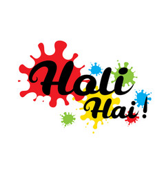 holi spring festival of colors design vector image