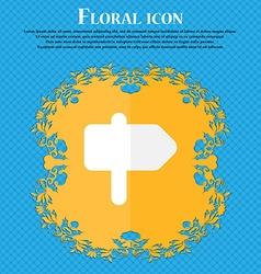 Information Road Floral flat design on a blue vector image
