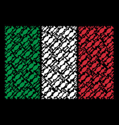italian flag mosaic of candy icons vector image