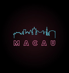 Macau skyline neon style vector