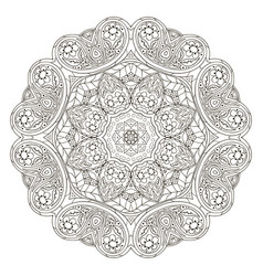Mandala pattern round ornament for your vector