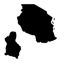 Map tanzania and dodoma country and capital vector