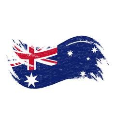 national flag of australia designed using brush vector image