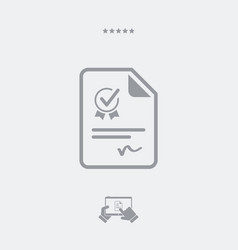Official certificate document - web icon vector