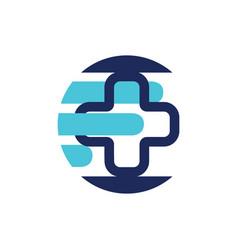 online health service medical cross logo online vector image