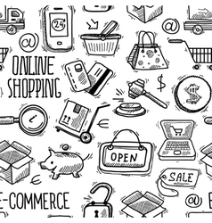 Online shopping pattern vector image