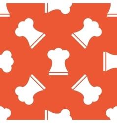 Orange chef hat pattern vector