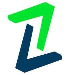 Pair of arrowheads arrow logo arrow icon with 2 vector