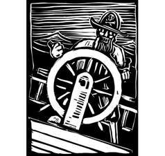 Pirate at the Wheel vector image