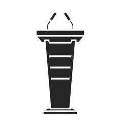 Podium rostrum iconblack icon vector