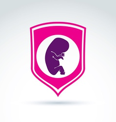 Pregnancy and abortion idea save live theme vector image