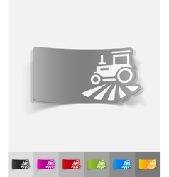 Realistic design element tractor vector