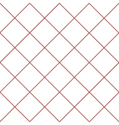 Red Grid White Diamond Background vector