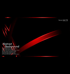 red ribbon wave on a black background layout vector image
