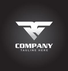 rg logo letter based vector image