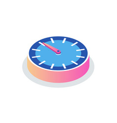 round clock isolated time measurement icon vector image