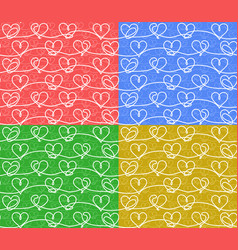 seamless backgrounds with hearts vector image