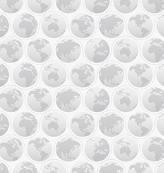 Seamless Pattern with Globes vector