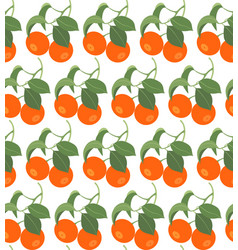 seamless pattern with tangerines vector image