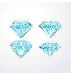 Set of blue diamonds vector