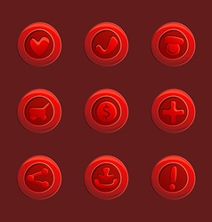 Set red elements for ui game vector