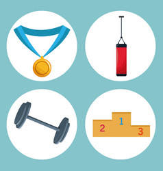Set sport equipment image vector