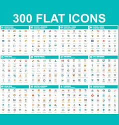 simple set flat icons vector image