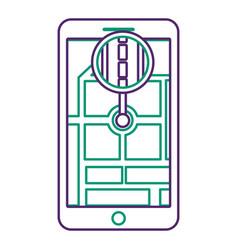 smartphone gps navigation road street vector image
