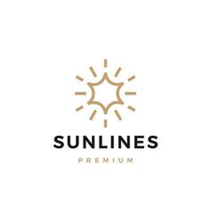 sun line logo icon vector image