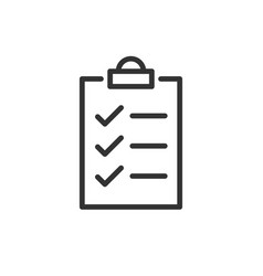 to do list icon in flat style document checklist vector image