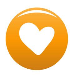 True heart icon orange vector