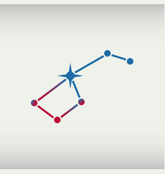 ursa major big dipper constellation vector image