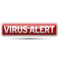 Virus alert sign - glossy banner with shadow vector