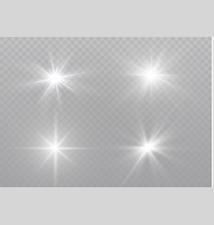 white sparks glitter special light effect vector image
