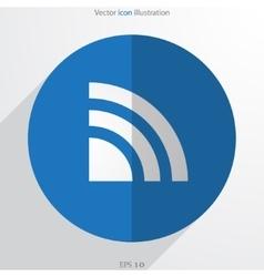 Wi fi web flat icon vector