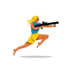 Woman with Gun vector