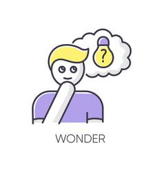 Wonder rgb color icon vector
