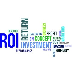 word cloud roi vector image
