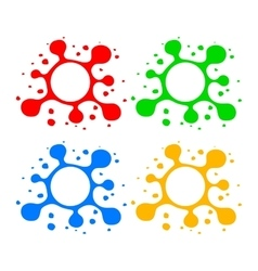 Blot Design Elements vector image vector image