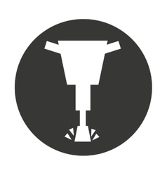 hammer hydraulic isolated icon vector image